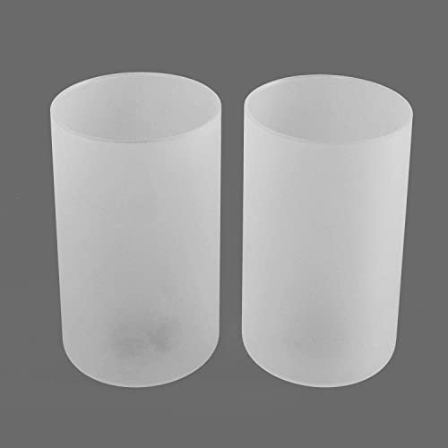 Eumyviv 2 Pack Frosted Glass Lamp Shade, Accessory Glass Fixture Replacement Globe or Lampshade with 1-5 8-Inch Fitter Opening A00019