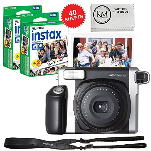 Fujifilm INSTAX Wide 300 Camera and 2 x Instax Wide Film Twin Pack - 40 Sheets