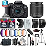 Canon EOS Rebel 800D/T7i Camera + 18-55mm IS STM Lens + 6PC Graduated Color Filter Set + 2yr Extended Warranty + 32GB Class 10 Memory Card + Canon Bag + 16GB Class 10 - International Version