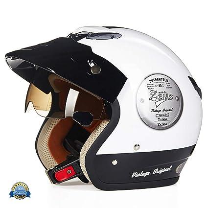 Ylfc Demi Casque Casque Moto Classic Casque Moto Jet