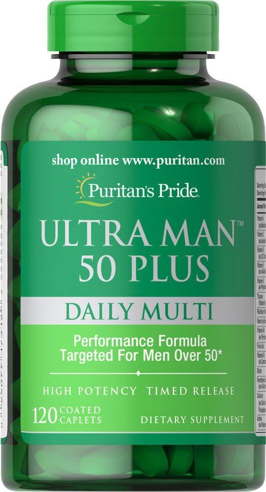 Puritans Pride Ultra Man 50 Plus-120 Caplets