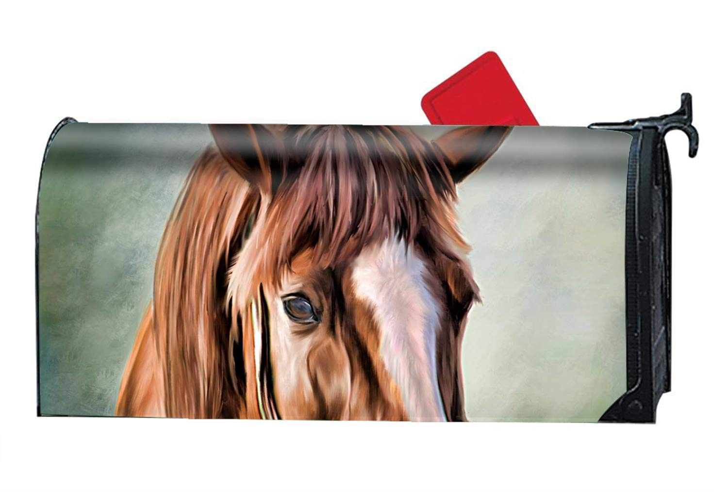 KSLIDS Horse Paintings Magnetic Mailbox Covers, Suitable for Spring, Summer, Fall/Autumn and Winter by KSLIDS (Image #1)