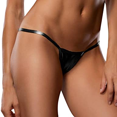 7bc1f51650 Fresofy Women Sexy Lingerie Women Underwear Imitation Leather Glossy face  Panty Briefs Thong G-String