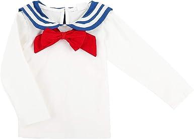 Bebé Niño Niña Camiseta de Manga Larga Marinero Cuello ...