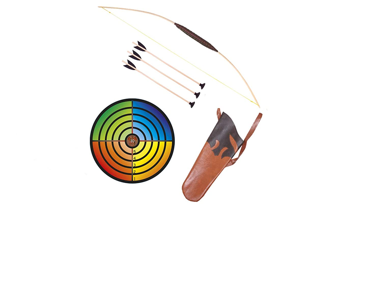 Holzspielerei Bois Gadget Cible Multicolore pour ventouse /& Carquois pour fl/èches Kit pour enfant