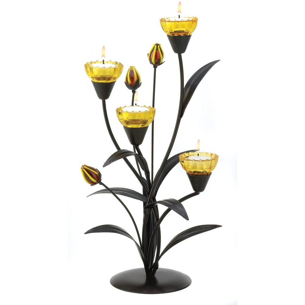 Gifts & Decor Tiger Lily Tealight Candle Holder Wedding Centerpiece Smart Living Company SLC-13770