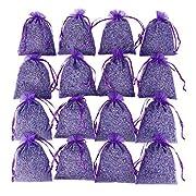 D'vine Dev 16 Purple French Dried Lavender Sachets Craft Bag - Lavender Sachets Wedding Toss, Home Fragrance Sachets Drawers Dressers - by Lavande Sur Terre