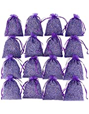 Purple Sachets Craft Bag with Dried French Lavender Flower Buds - Lavender Sachets for Wedding Toss, Home Fragrance Sachets for Drawers and Dressers