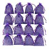 D'vine Dev Pre-Filled 15 Sachets Bags Home Fragrance Sachets for Drawers and Dressers, Lovely Dried Lavender Flower Buds Sachets - by Lavande Sur Terre
