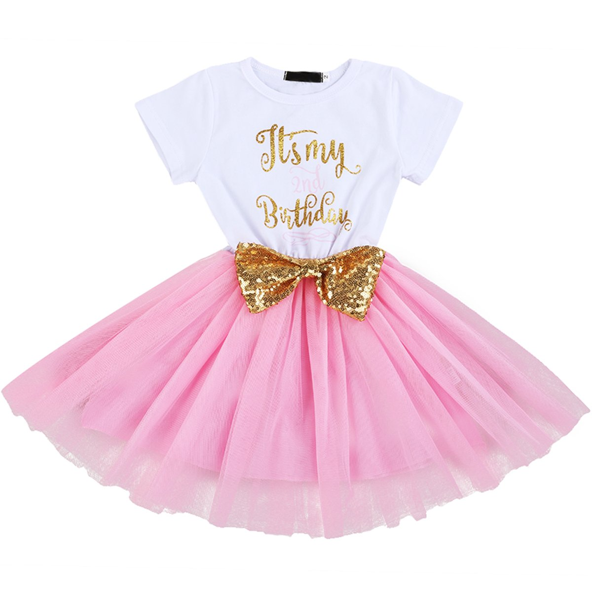 38402ee145 IBTOM CASTLE Baby Girls Newborn It's My 1st/2nd Birthday Cake Smash ...