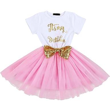 1968c5719dbc IBTOM CASTLE Baby Girls Newborn It s My 1st 2nd Birthday Cake Smash ...