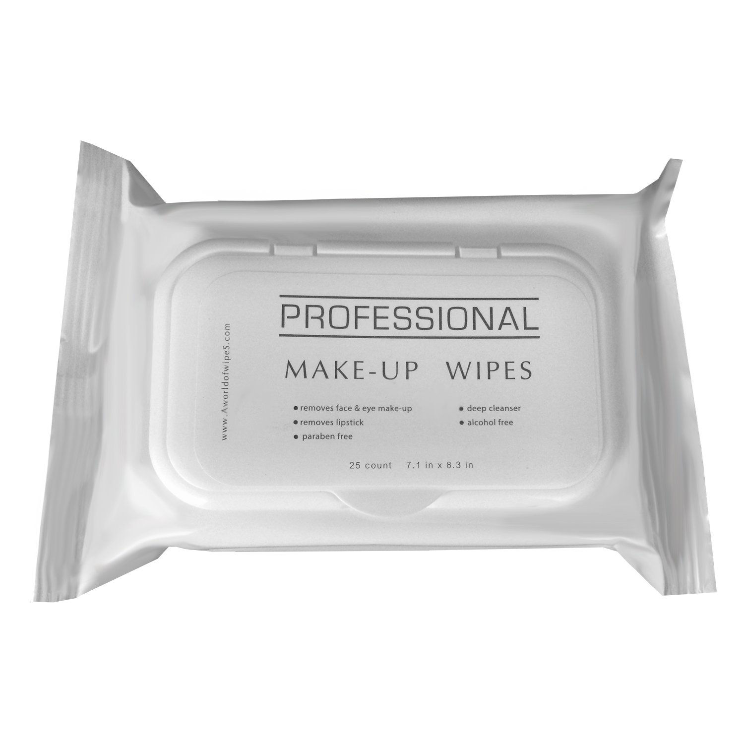 A World Of Wipes Professional Make-Up Remover Wipes, 25-Count Container, (24 Packs)