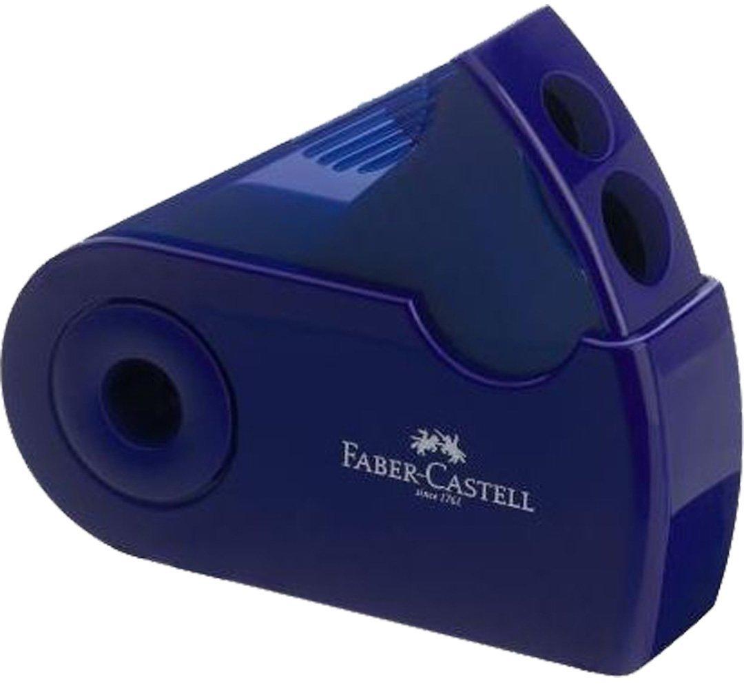 Faber-Castell Doppelspitzdose SLEEVE (Dose + Radierer, Dunkelgrün) Dunkelgrün)