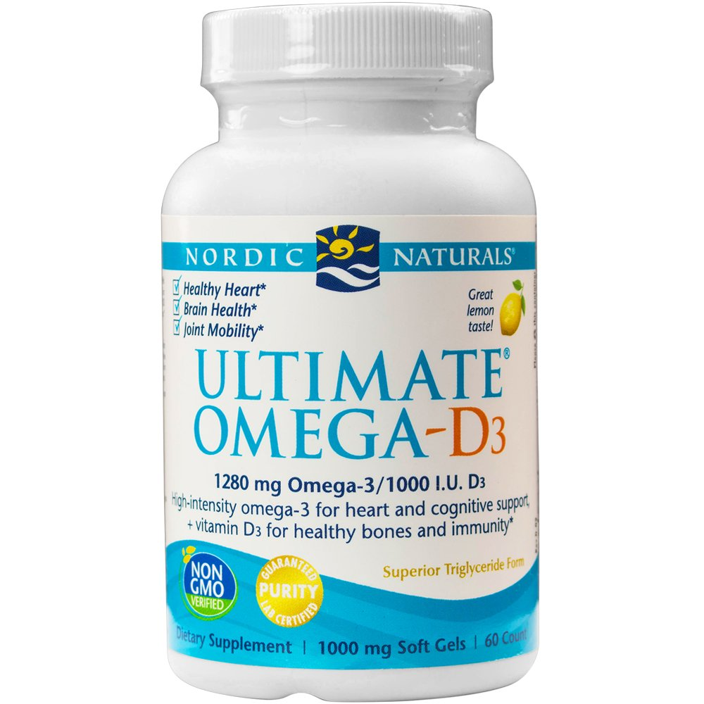 Nordic Naturals - Ultimate Omega-D3, Supports Healthy Bones and Immunity, 60 Soft Gels (FFP)