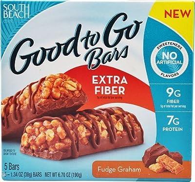 South Beach Diet Good to Go Extra Fiber Bars Fudge Graham -- 5 Bars
