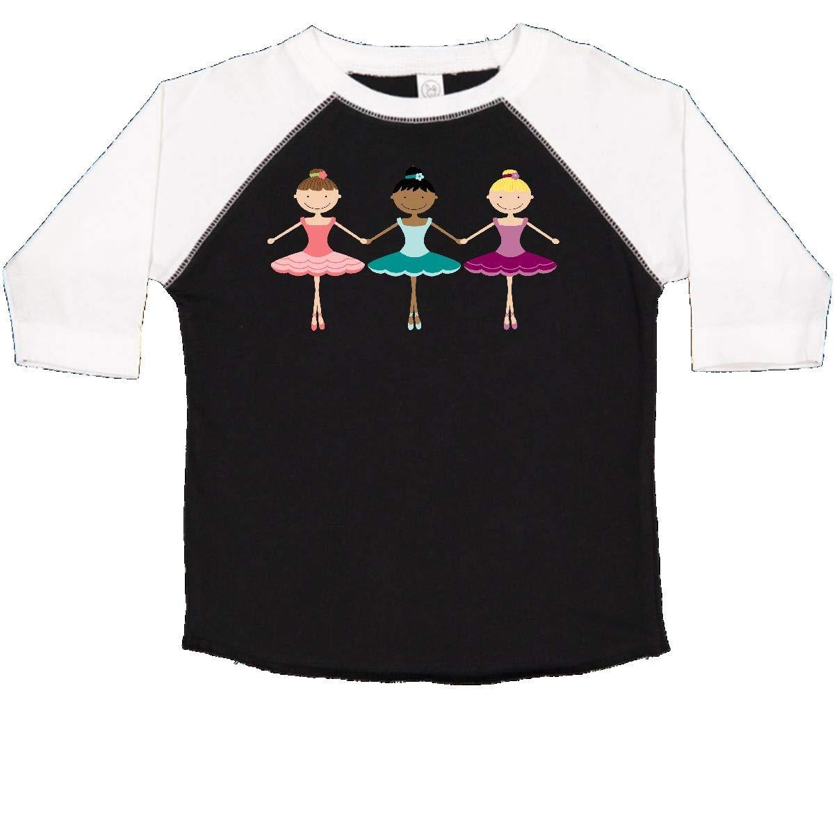inktastic Little Ballerina Trio Toddler T-Shirt