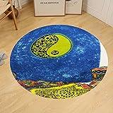 Gzhihine Custom round floor mat Tapestry Spritual Yin Yang Indian Tye Dye Mandala Tie Dye Hippie Hippy Boho Bohemian Round Cotton Twin Tapestries Art Hangings Beach Throw College Dorm Door Curtain (2)