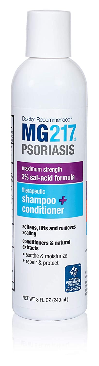 MG217 Psoriasis 3% Salicylic Acid Therapeutic 2 in 1 Shampoo and Conditioner - 8 oz Bottle