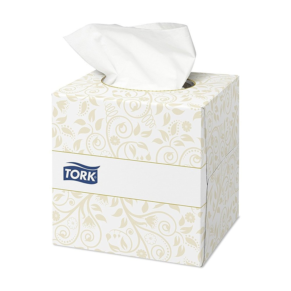 Tork Facial Tissues Cube 2 ply 100 Sheets White Ref 140278 [Pack 30] 565564