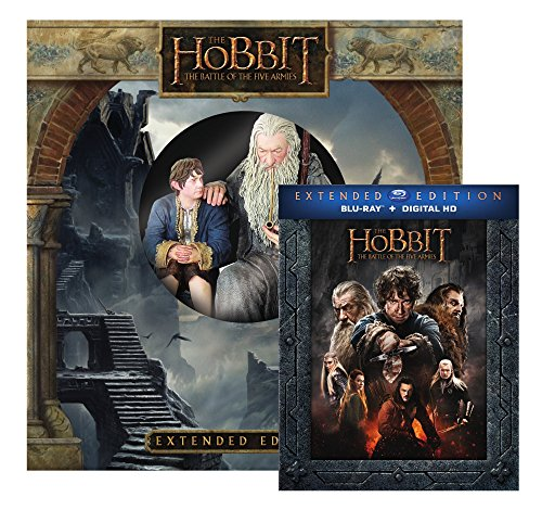 Hobbit, The: Battle of Five Armies Extended Edition with Figurine [Bluray + Ultra-Violet ] (Amazon Exclusive) [Blu-ray]