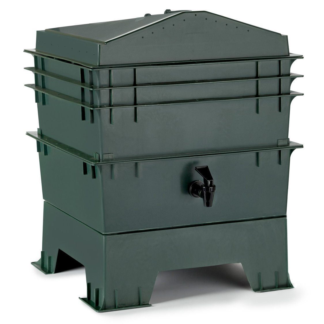 Chef's Star 3-Tray Stackable/Expandable Recycled Plastic Odorless Worm Composter Chef's Star