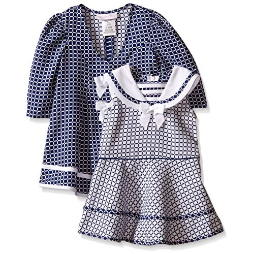 03c68c60a Bonnie Baby Baby Girls' Two Piece Jacquard Sailor Dress and Coat Set ...