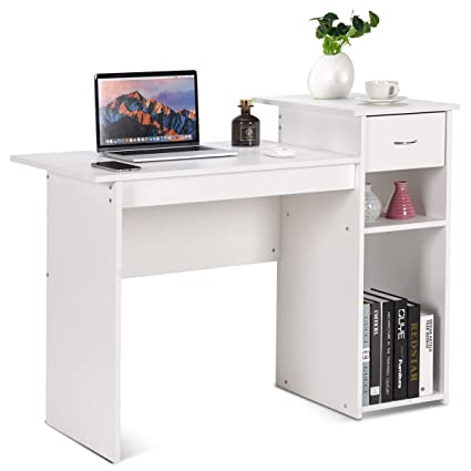 wooden home office. TANGKULA Computer Desk Wooden PC Laptop Home Office Modern Simple Style Wood  Study Workstation Writing Table Wooden Home Office