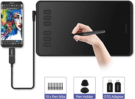 Huion Inspiroy H640P Graphics Drawing Tablet with Battery-Free Stylus and 8192 Pressure Sensitivity