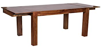 Wohnling Esstisch Massivholz Sheesham 160 240cm Ausziehbar Esszimmer Tisch Design Kuchentisch Landhaus Stil Holztisch Dunkel Braun Natur Produkt