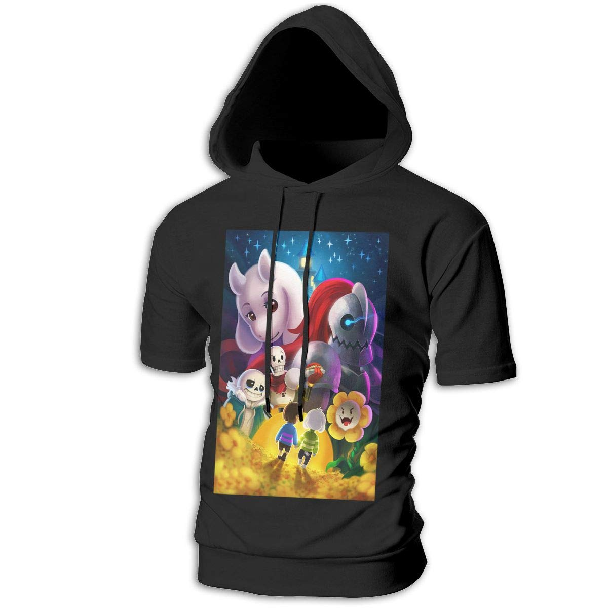 SHENGN Design Man with Cap Casual Undertale Family Sweater
