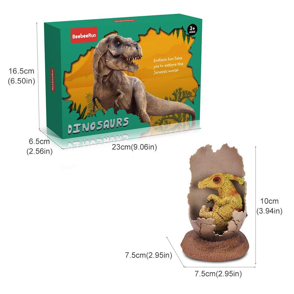 6 Piezas Figura de Dinosaurio Juguete Huevos de Dinosaurio Regalo para Chicos Ni/ños BeebeeRun Juego de Dinosaurios
