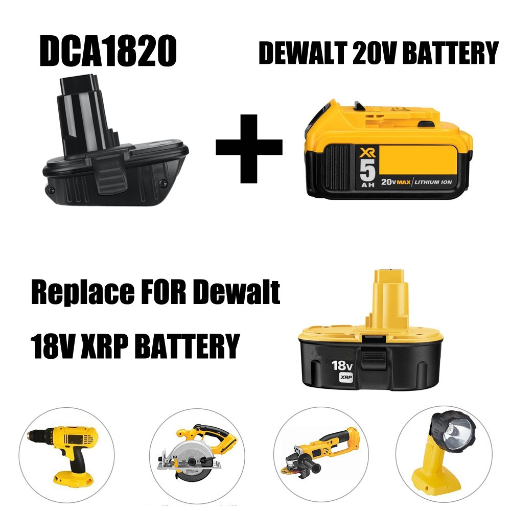 Weistar Dca1820 For Dewalt Battery Adapter 18v Tools Work With Baterai Cordless 40 Ah Asli 20v Max Xr Lithium