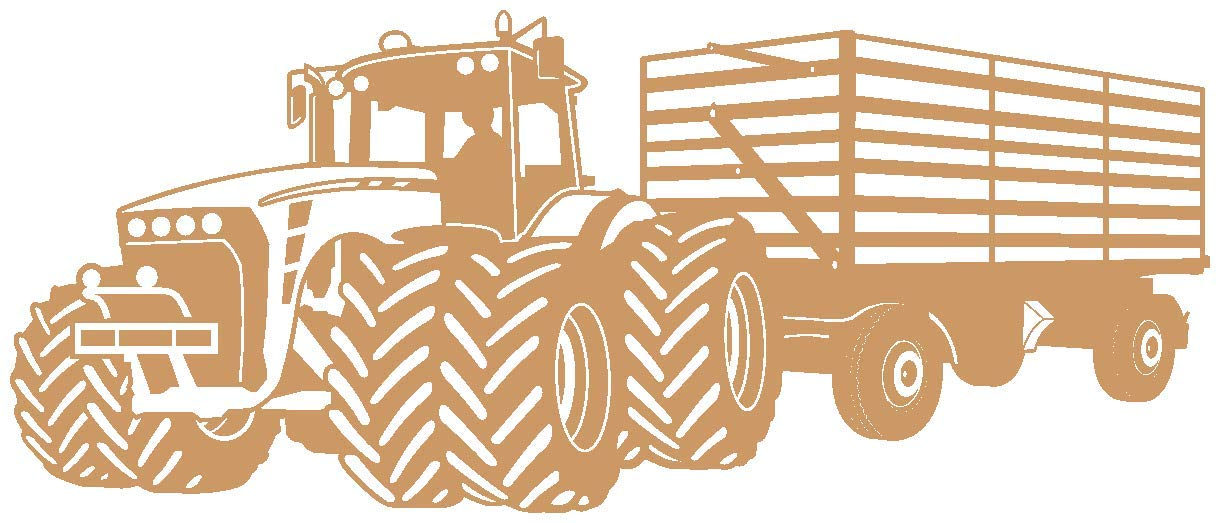 Samunshi® Wandtattoo Großer Traktor Traktor Traktor mit Anhänger Trecker Kinderzimmer Kinder Wandaufkleber in 8 Größen und 20 Farben (140x59cm grün) B06W57LYQ3 Wandtattoos & Wandbilder 7e08cd