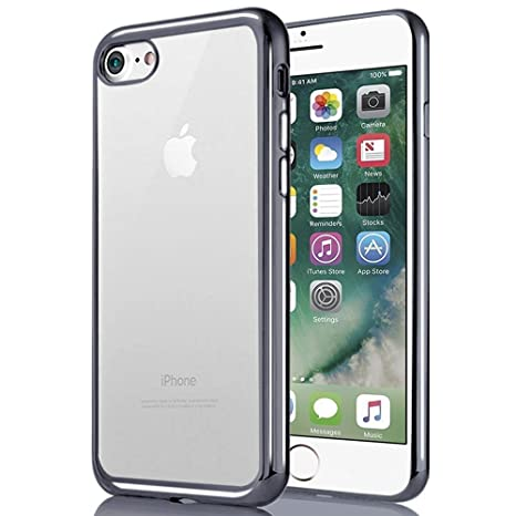 Funda Silicona iPhone 7, 8, Bumper [Shock-Absorción] [Anti ...