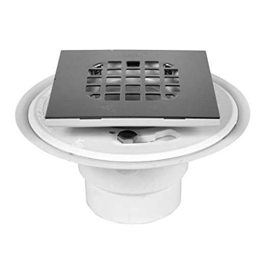 Amazon.com: Oatey 42398 PVC Shower Drain With Square Rubbed Bronze  Snap Tite Strainer: Home Improvement