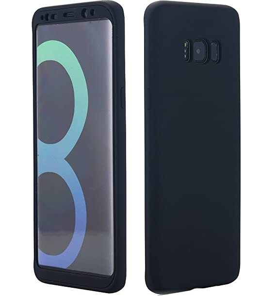 newest collection 28d33 1c983 Amazon.com: Galaxy S8 Case, 360 Degree All-Around Full Body Slim Fit ...