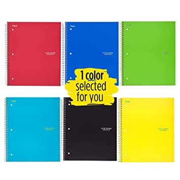amazon 1 pack five star spiral notebook 1 subject quad ruled
