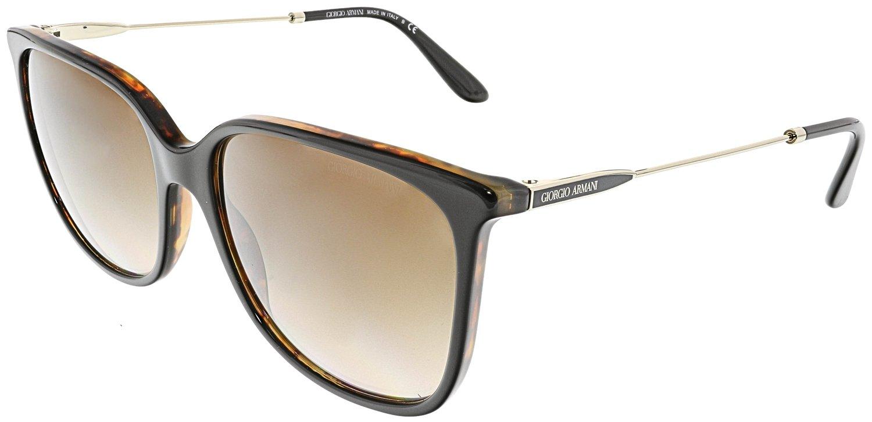 Giorgio Armani AR8080 504913 Top Black Havana AR8080 Square Sunglasses Lens Cat
