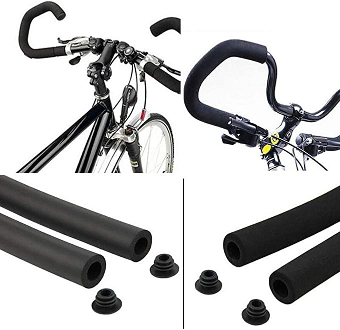 2pcs//set Bicycle Bike MTB Handlebar Tube Sponge Foam Rubber Handle Bar Grips Kit