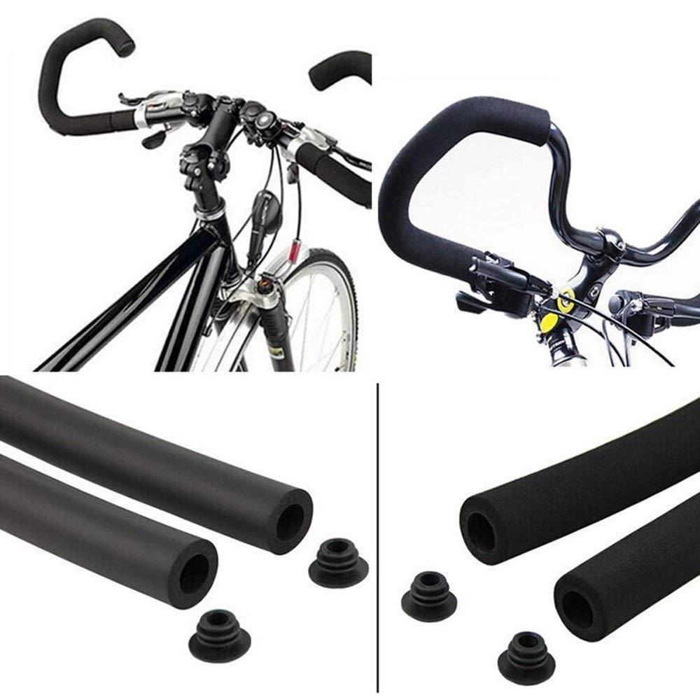 Vivian Bicycle Handlebar Grips Cover Racing Bike Sponge Foam Rubber Tube Flexible Cuttable Handlebar Cover Foam Grips,Pack of 2 Piece,Inner Diameter 21mm//0.83inch