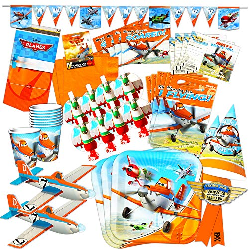 Disney Planes Party Supplies Ultimate Set -- Birthday Party Decorations, Party Favors, Plates, Cups, Napkins, Table Cover and More! (Disney Hats Planes Party)
