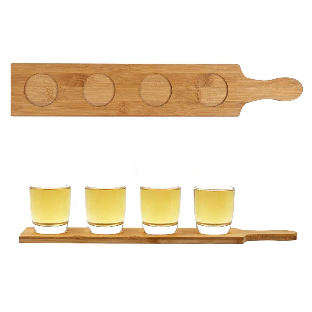 Amazoncom Feeshow Wood Beer Tasting Tray 345 Slots Wine