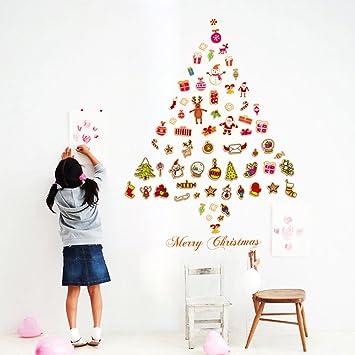 Weihnachtsdeko Weihnachtssticker Abnehmbare Wandsticker