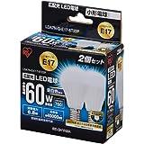 アイリスオーヤマ LED電球 口金直径17mm 60W形相当 昼白色 広配光タイプ 2個セット 密閉形器具対応 LDA7N-G-E17-6T22P