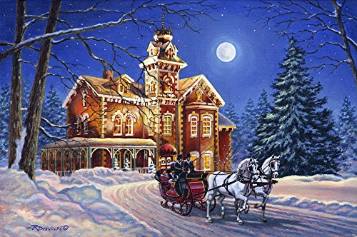 (Springbok Puzzles - Moonlight Traveler - 1000 Piece Jigsaw Puzzle - Large 30 Inches by 24 Inches Puzzle - Made in USA - Unique Cut Interlocking Pieces)