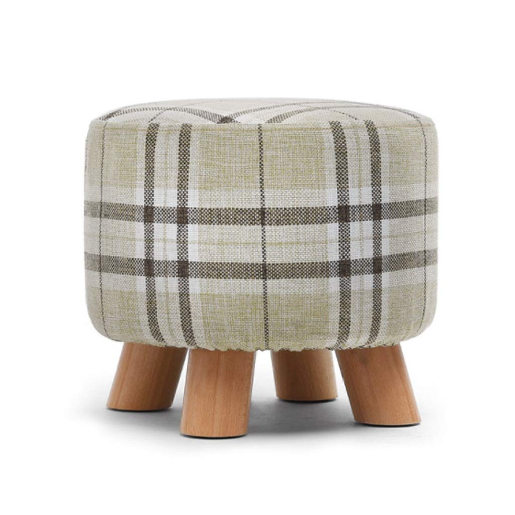 Kays Barstools Footstool Creative Stool Solid Wood Dining Stool Square Stool Cloth Art Dressing Stool Fashion Makeup Stool Bench Home Stool 6 Colors (Color : C)