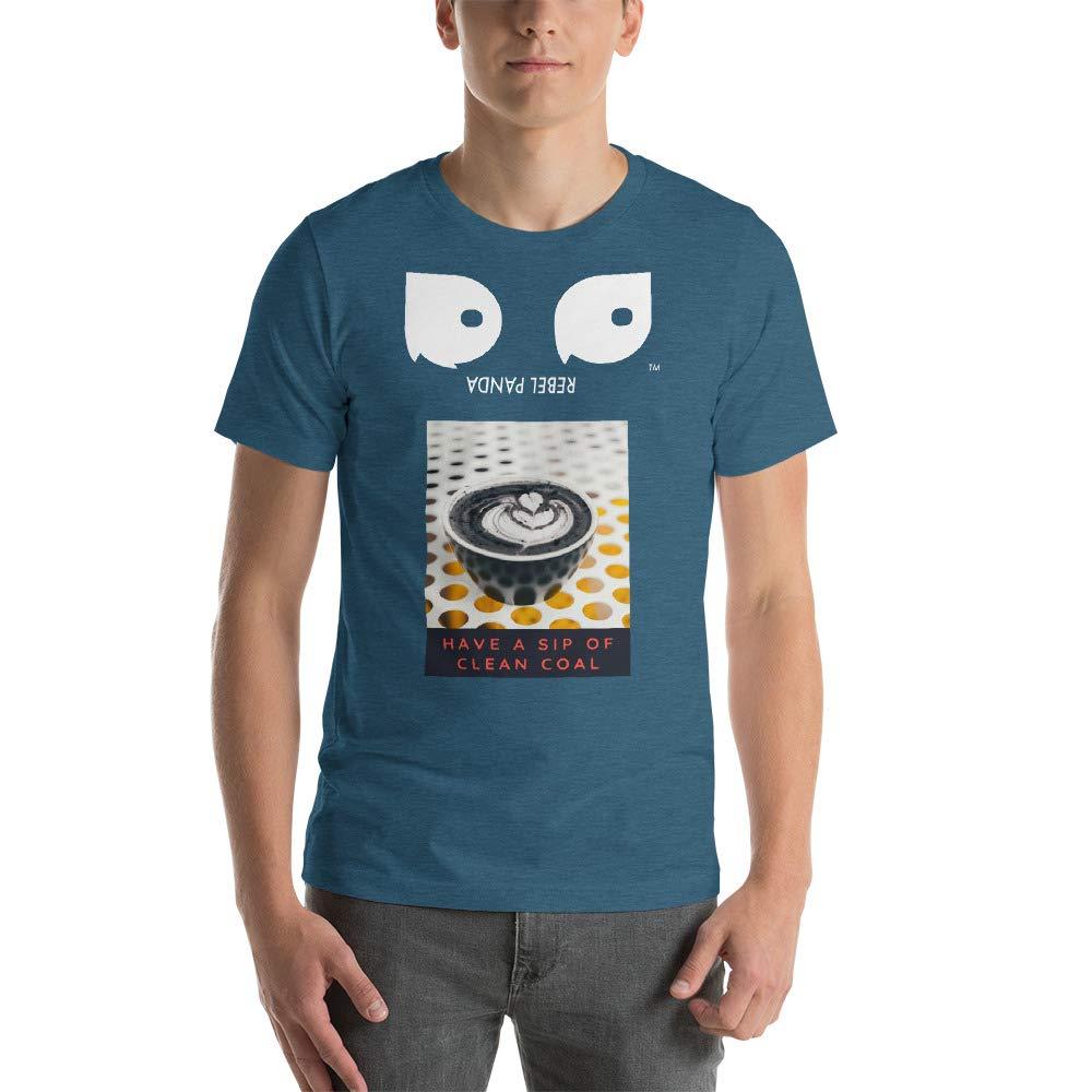 REBEL PANDA Have A SIP of Clean Coal Premium Short-Sleeve Unisex T-Shirt