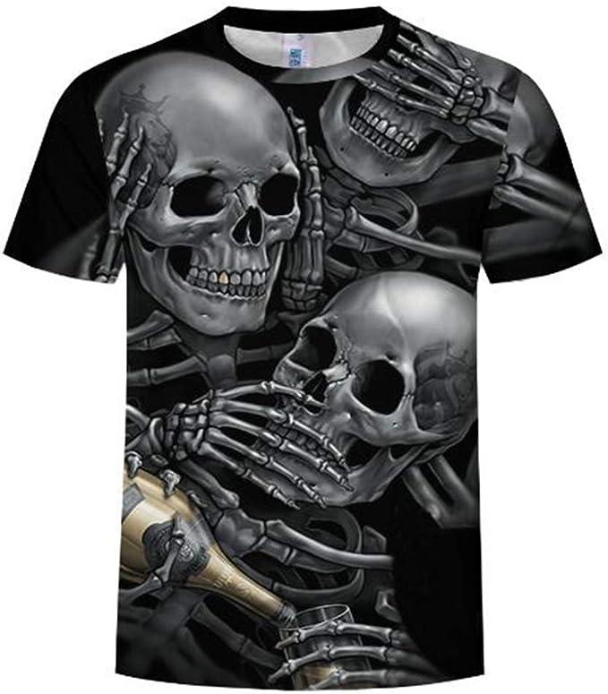 Camisetas Impresas Digital 3D de Verano de Manga Corta para ...