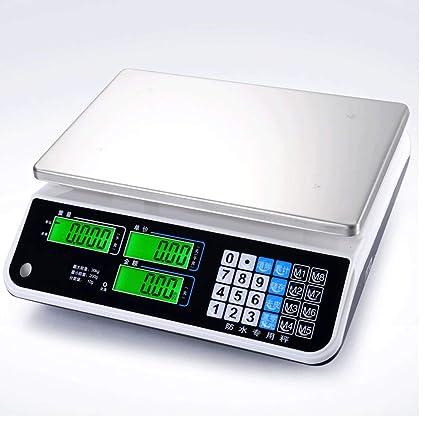ZNND Impermeable Electrónico Escala, Mariscos Acuático Precio Comercial Plataforma Preciso Cocina Peso Los Ingredientes (
