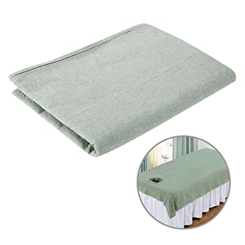 Massage Bed Cover Treatment Couch Sheets with Breathe Hole Gray Color